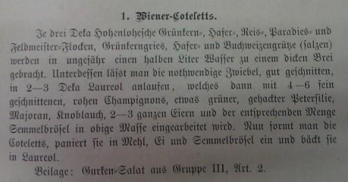 Marie Schmall verwendete für ihre Rezepte häufig Produkte, die es in ihrem Reformhaus zu kaufen gab. (aus: Schmall: Die Zukunftsküche. 1900: 75, gemeinfrei)
