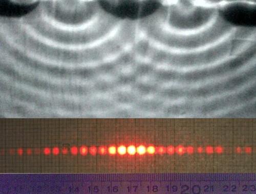 Gruss aus der Quantenwelt: Materieteilchen zeigen Interferenz! (Urheber: © TU Wien, mit freundlicher Genehmigung)