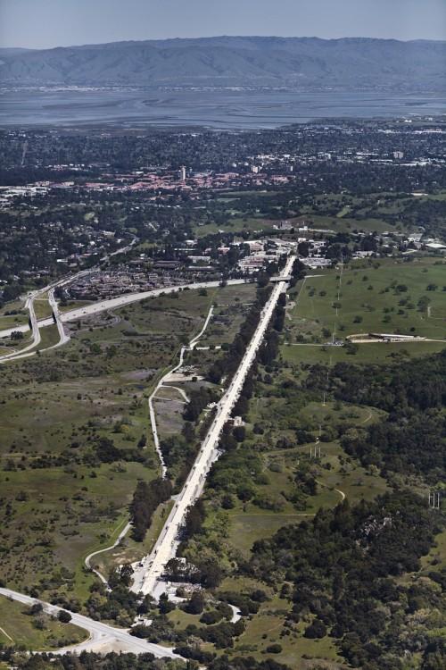 Luftaufnahme des SLAC-Beschleunigers, Gemeinfrei