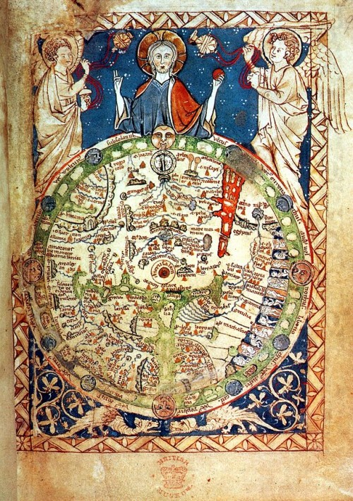 London Psalter Map, appr. 1200 AD (Public Domain)