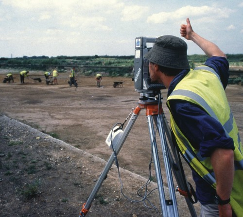 A surveyor at work. (Image: Wessex Archaeology CC BY-NC-SA 2.0)