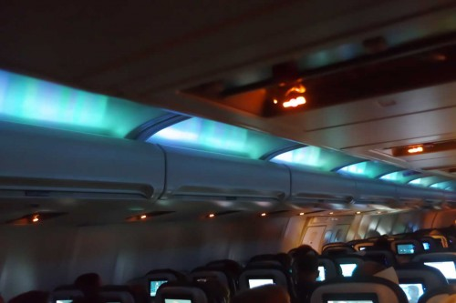 Künstliches Polarlicht im Flieger…, © Autor
