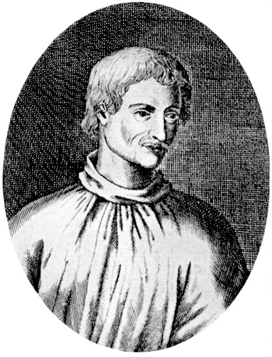 Frühestes bekanntes Bild von Giordano Bruno 1715 (Urheber: Wikipedia uploader, public domain)