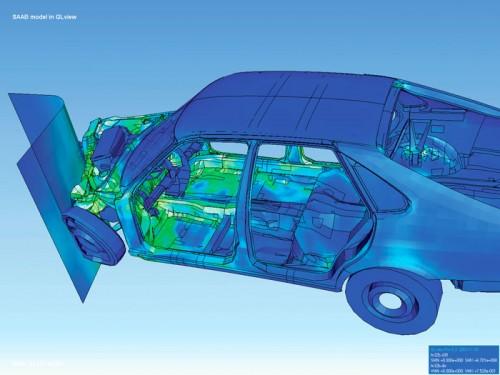 Simulation eines Crashtests (Bild ist gemeinfrei)