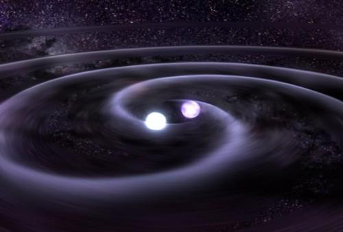 Verschmelzende Neutronensterne machen Astronominnen und Astronomen auf der ganzen Welt sehr glücklich! (Bild: NASA/Goddard Space Flight Center)
