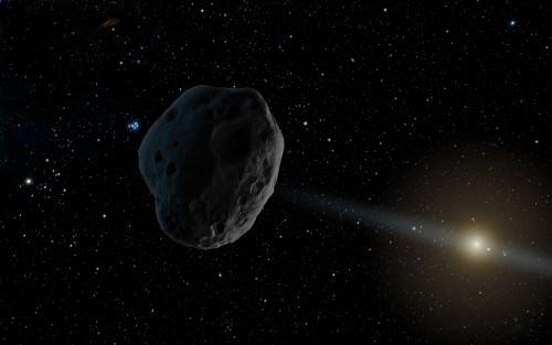 Künstlerische Darstellung eines fernen Asteroids (NASA/JPL-Caltech)