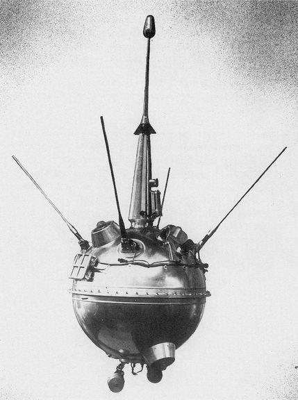 Lunik 2, das erste Ding das auf einem anderem Himmelskörper gelandet ist (Bild: Public Domain)