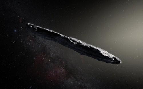 Künstlerische Darstellung von 'Oumuamua (Bild: ESO/M. Kornmesser)