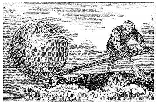 Die Erde bewegen ist simpel: Man braucht nur ein sehr, sehr langes Brett und einen verdammt großen Typen! (Bild: gemeinfrei)