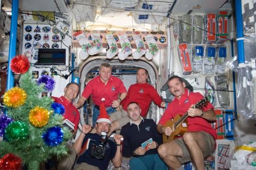 Weihnachten auf der Raumstation (Bild: NASA)