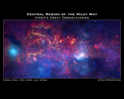 Das Zentrum der Galaxis ist hübsch. Aber früher war es auch sehr ungemütlich... (Bild: NASA)