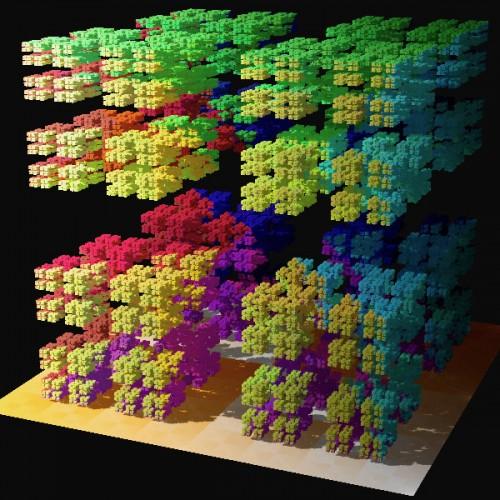 Eine Cantor-Menge. Hat nix mit dem Diagonalargument zu tun, schaut aber cool aus! (Bild: Solkoll, gemeinfrei)