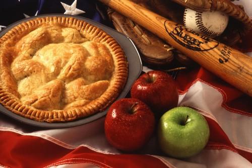 Apfelkuchen ist kompliziert. Und nein, ich weiß nicht was der Baseballschläger da zu suchen hat (Bild: Scott Bauer, US-DoA, public domain)