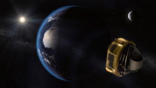 ARIEL im Weltraum (Künstlerische Darstellung:  ESA/STFC RAL Space/UCL/Europlanet-Science Office)