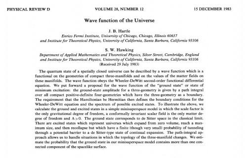 Hartle & Hawking, 1983
