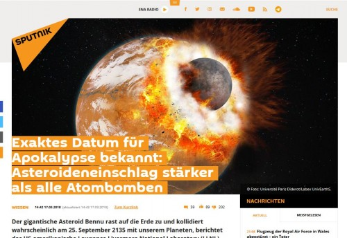 "Screenshot ""Sputnik"", 20.03.2018"