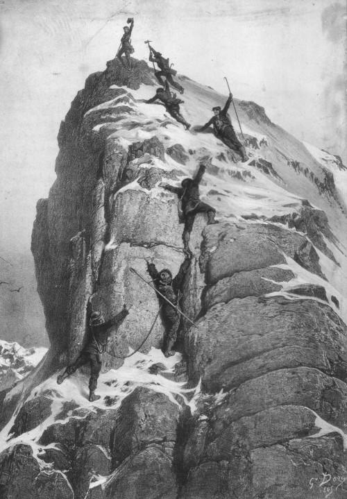 Besteigung des Matterhorns (Gustave Doré, gemeinfrei)
