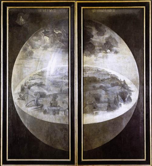 Die Erde ist auch nicht innen flach mit und außenrum rund (Bild: Hieronymus Bosch, gemeinfrei)