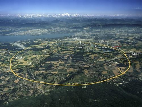 LHC von oben (Bild: CERN; Maximilien Brice , CC-BY-SA 4.0)
