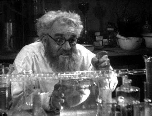 Leicht verrückt und mit dubiosen Dingen beschäftigt: Ein Wissenschaftler aus der Klischeeforschung (Bild: Public Domain)
