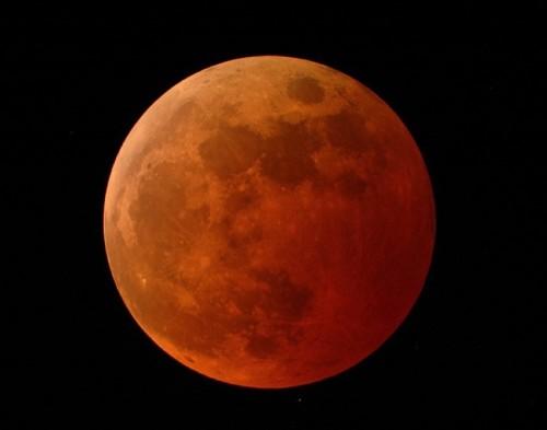 """Blutmond aka """"Mondfinsternis"""" (Bild: NASA)"""