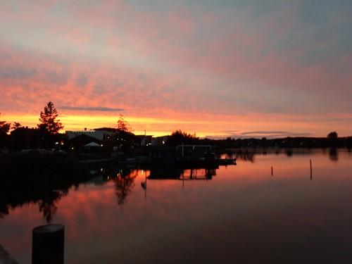 Roter Himmel über Usedom