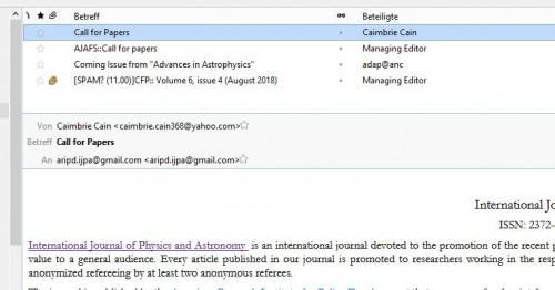 Journalspam