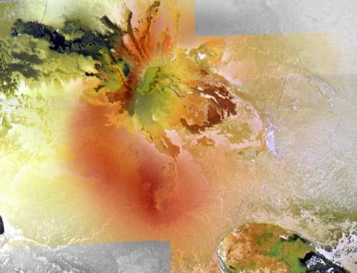 Culann Patera auf Io, eine der vielen aktiven Regionen (Bild: NASA/JPL/University of Arizona, gemeinfrei)