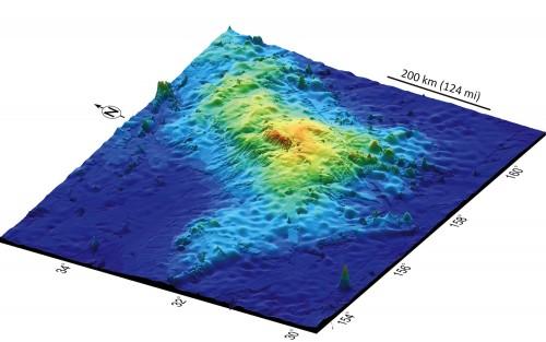 3D-Modell des unterseeischen Tamu-Massiv (Bild: IODP, gemeinfrei)