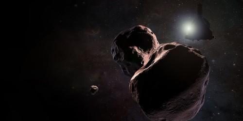 New Horizons bei Ultima Thule (Künstlerische Darstellung: NASA/JHUAPL/SwRI/Steve Gribben)