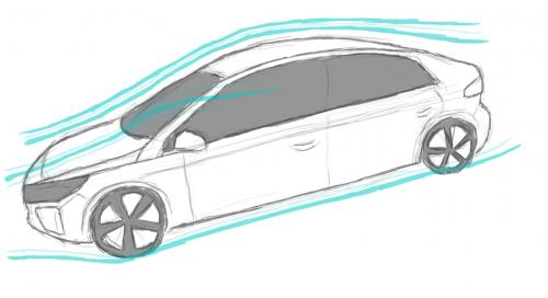 Fahrzeuge mit einer guten Aerodynamik zeichnen sich durch einen niedrigen cW-Wert und eine geringe Stirnfläche aus. (Illustration von athousandjets_art)