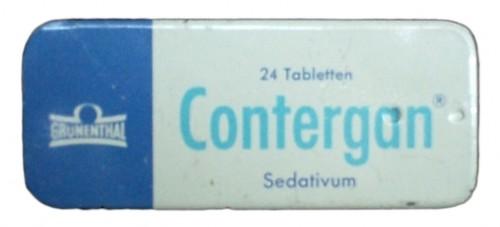 So eine Packung Tabletten konnte von man 1957 bis 1961 rezeptfrei in jeder Apotheke erhalten (Bild: Kai, CC-BY-SA 3.0)