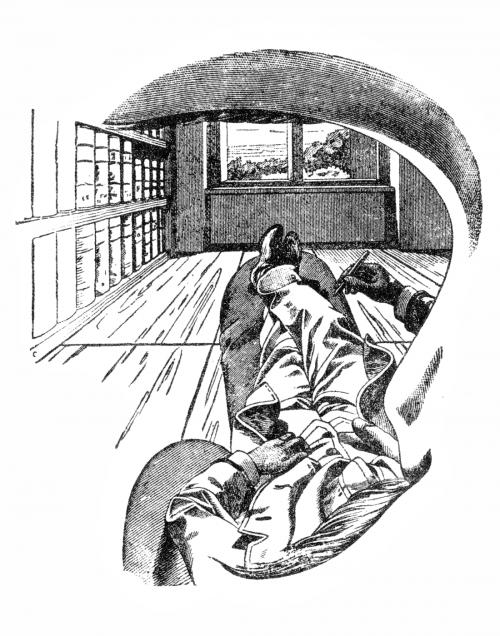 Die Welt wie Ernst Mach sie (mit einem Auge) sieht. (Bild: Ernst Mach, public domain)
