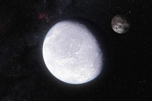 Künstlerische Darstellung von Eris (Bild: ESO/L. Calçada and Nick Risinger (skysurvey.org))