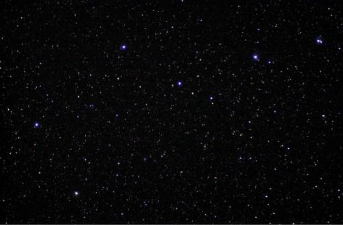 Die Sterne des Großen Wagens (einer fehlt), gesehen von der ISS aus. Mizar ist der Stern oben rechts (Bild: Public Domain)