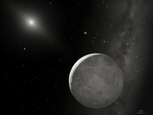 Künstlerische Darstellung von Eris (Bild: NASA, ESA, and A. Schaller (for STScI))