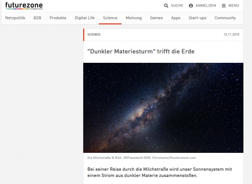 Ach du meine Güte! (Screenshot Futurezone.at, 14.11.2018)