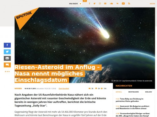 Screenshot de.sputniknews.com (29.11.2018)