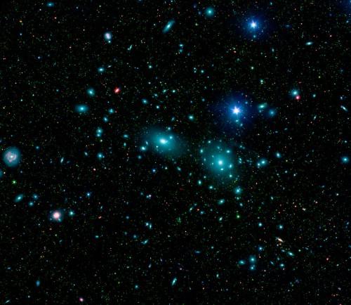 Der Coma-Galaxienhaufen (Bild: NASA/JPL-Caltech/L. Jenkins (GSFC))