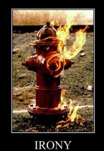 it burns...