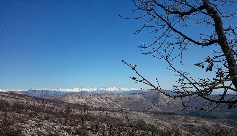 das weiße hinten sind die Alpen