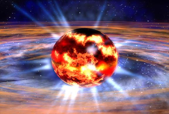ein Neutronenstern [a]