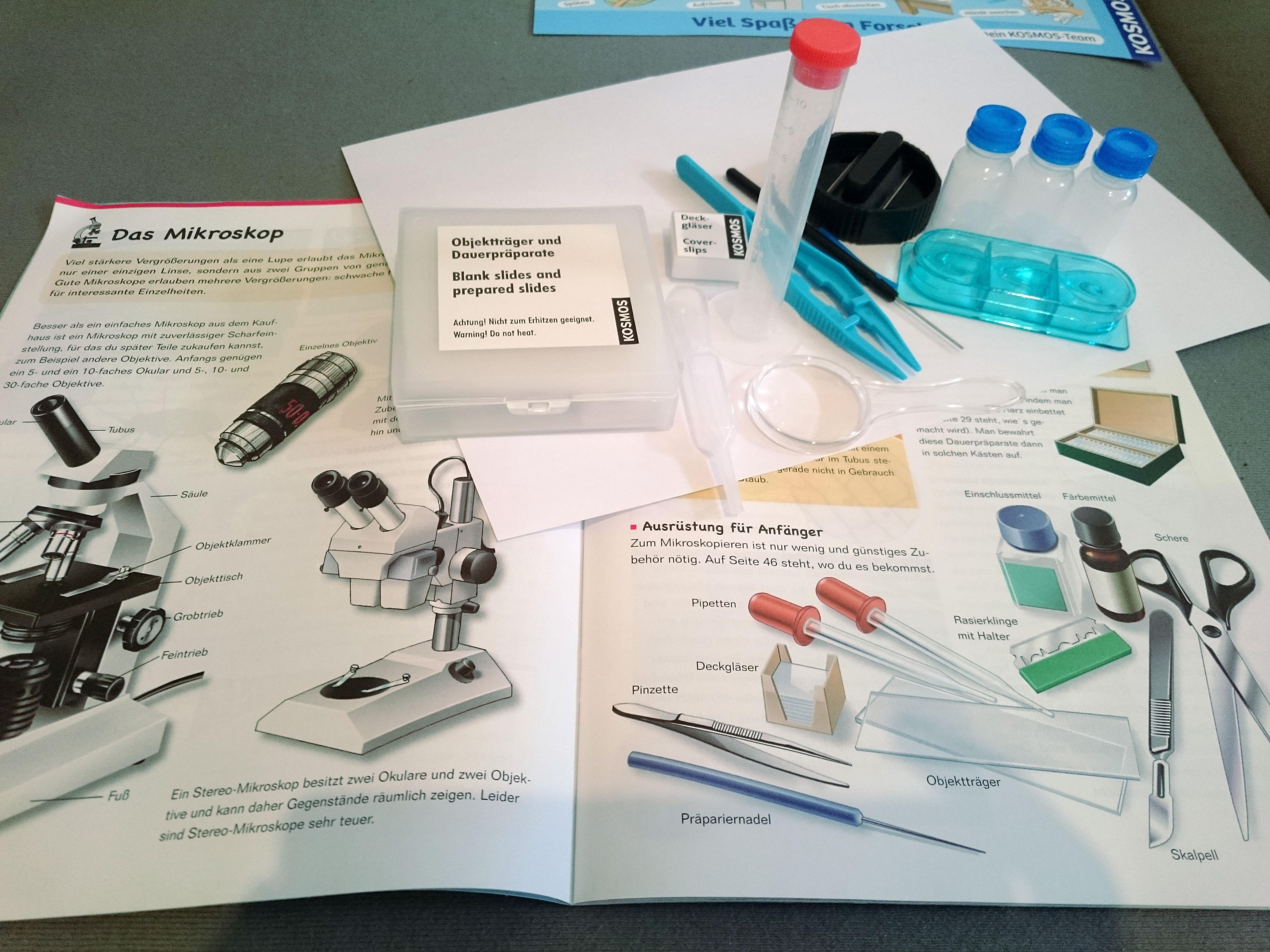 Rezension u ckosmos mikroskop experimentierkastenu d u die kleinen dinge