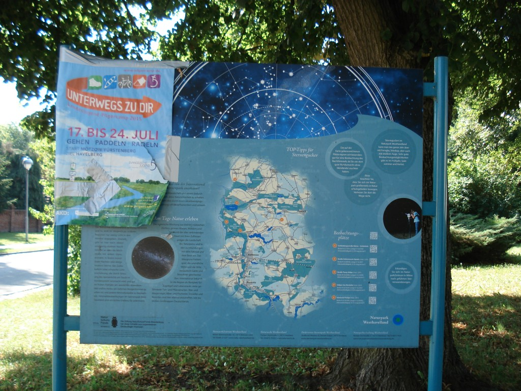 Sternenpark-Infotafel