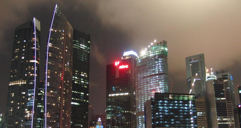Lichtverschmutzung in Singapur