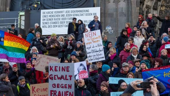 Flashmob gegen Männergewalt, Köln