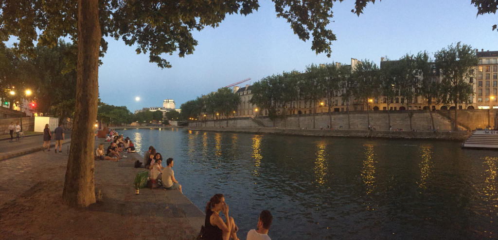 Moon over the Seine