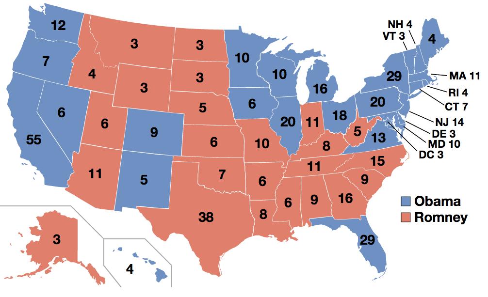 Wahlergebnis 2012