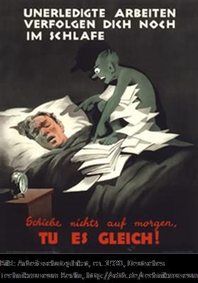 Arbeitsschutzplakat 1930