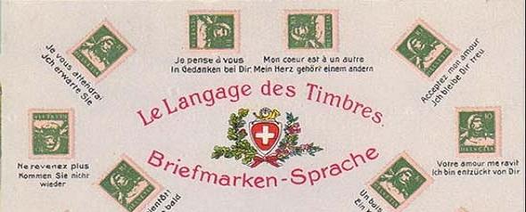 Briefmarkensprache-Bar